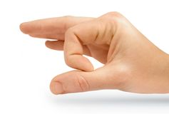 Isolated Flicking Hand. Human Hand Flicking Isolated On A White Background Stock Photos
