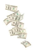 Isolated floating American hundred notes isolated Stock Photos