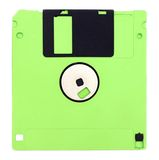 Isolated floppy disk Stock Photos
