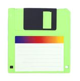 Isolated floppy disk. Over white background Stock Photo