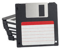 Isolated floppy disk with label Stock Images