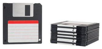 Isolated floppy disk with label Royalty Free Stock Photo
