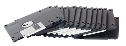 Isolated floppy disks Stock Image