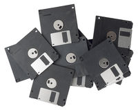 Isolated floppy disks Royalty Free Stock Image