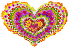 Isolated floral lheart mandala Royalty Free Stock Images