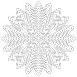 Isolated flower or mandala ornament for coloring Stock Photography