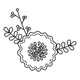 Isolated flower ornament design vector illustration