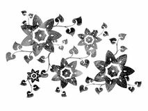 Isolated Flower Stencil Design Stock Images