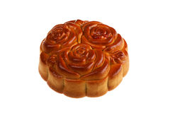 Isolated Flowers Moon Cake Stock Photos