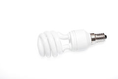 Isolated fluorescent lamp on a white background Royalty Free Stock Photo