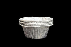 Isolated foil baking cup Royalty Free Stock Images