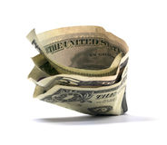 Isolated Folded Cash royalty free stock images