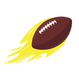 Isolated football ball. On a white background, Vector illustration Royalty Free Stock Image