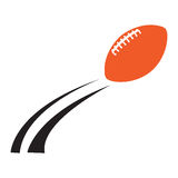 Isolated football ball. On a white background, Vector illustration Stock Photography