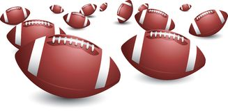 Isolated footballs Royalty Free Stock Image