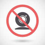 Isolated forbidden signal with a web cam Royalty Free Stock Image