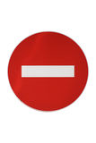Isolated Forbidden Traffic Sign. On A White Background Stock Photo