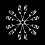 Kaleidoscopic fork Royalty Free Stock Image