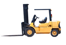 Isolated Fork Lift Truck. An isolated fork lift truck on white background Stock Photography