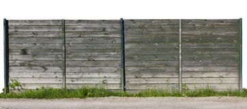 Isolated fragment  of old wooden fence Royalty Free Stock Photos