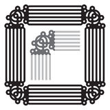 Isolated frame decoration Royalty Free Stock Photo