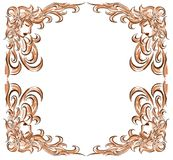 Isolated frame with stylized woman portraits Royalty Free Stock Photography