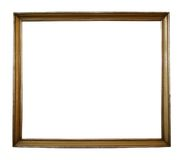 Isolated frame w/ path. Large antique picture frame with clipping path - perfect for use with any background stock illustration
