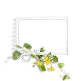 Isolated frame with yellow flowers Stock Images