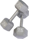 Isolated Free Weights Stock Photo