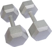 Isolated Free Weights Stock Image