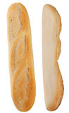 Isolated french baguette two sides Royalty Free Stock Image