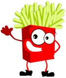 Colorful Isolated French fries cartoon Stock Photography