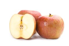 Isolated fresh apple fruit Stock Images