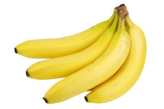 Isolated fresh banana Stock Photo