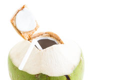 Isolated of fresh Coconut Water Drink Royalty Free Stock Images