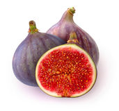 Isolated fresh figs Royalty Free Stock Photo