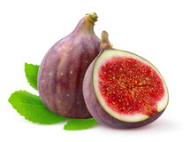 Isolated fresh figs Royalty Free Stock Image