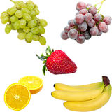 Isolated fresh fruit Royalty Free Stock Images