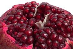 Isolated  fresh  ripe  pomegranate on white background Royalty Free Stock Photo