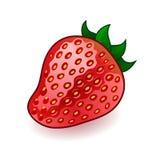 Isolated fresh shiny strawberry on white Royalty Free Stock Images