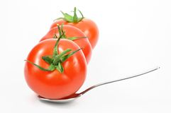 Isolated fresh tomatoes Royalty Free Stock Image