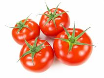 Isolated Fresh Tomatoes Royalty Free Stock Photos