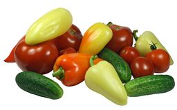 Isolated Fresh Vegetables Stock Image