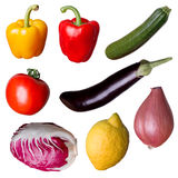 Isolated fresh vegetables Royalty Free Stock Images