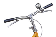 Isolated front of bicycle on white Stock Photography