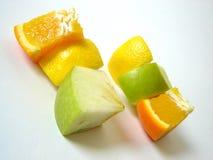 Isolated fruit. Orange, lemon and apple Stock Image