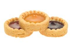 Isolated fruit cakes Stock Photos
