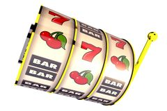 Isolated Fruit Machine Drums Stock Photo