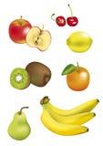 Isolated Fruits. Illustrated fruits on white background Royalty Free Stock Photo