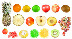 Isolated fruits Royalty Free Stock Photography